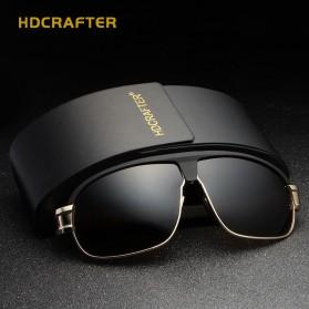 HDCRAFTER Kacamata Polarized Vintage Sunglasses - Black - 3