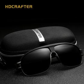 HDCRAFTER Kacamata Polarized Vintage Sunglasses - Black - 4