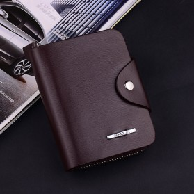DEABOLAR Dompet Pria Bahan Kulit - Vertical - Coffee