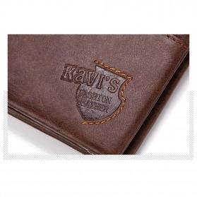 KAVI'S Dompet Pria Bahan Kulit Premium - Horizontal - Coffee - 6