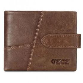GZCZ Dompet Pria Bahan Kulit Premium - Horizontal - Coffee