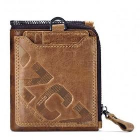 GZCZ Dompet Pria Bahan Kulit Modern Style - Brown