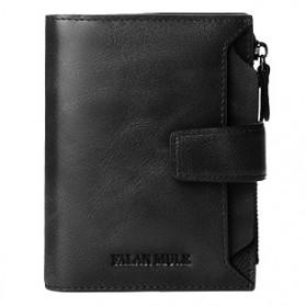 FALANMULE Dompet Pria Classic Bahan Kulit - FLML1342 - Black