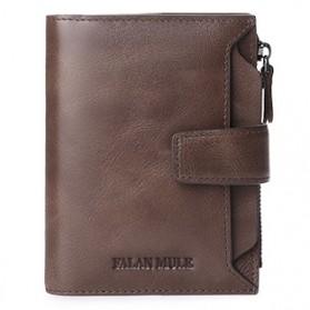 FALANMULE Dompet Pria Classic Bahan Kulit - FLML1342 - Coffee