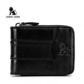 LAOSHIZI LUOSEN Dompet Pria Bahan Kulit Premium - 91605 - Black