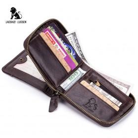 LAOSHIZI LUOSEN Dompet Pria Bahan Kulit Premium - 91605 - Black - 2