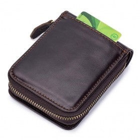 LAOSHIZI LUOSEN Dompet Pria Bahan Kulit Premium - 91605 - Black - 4