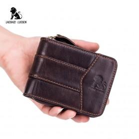 LAOSHIZI LUOSEN Dompet Pria Bahan Kulit Premium - 91605 - Black - 6