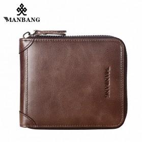 ManBang Dompet Pria Bahan Kulit - MBQ3753 - Brown