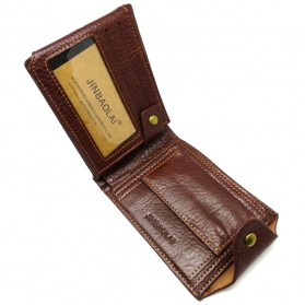 Deri Cuzdan Dompet Kulit Pria - Brown - 3