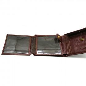 Deri Cuzdan Dompet Kulit Pria - Brown - 5