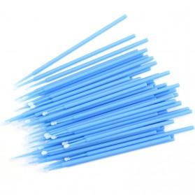 Disposable Cotton Swab Eyelash Makeup Tools No Fragrance Dyes 100 PCS - YD14 - Blue - 2