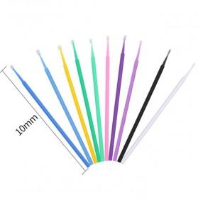 Disposable Cotton Swab Eyelash Makeup Tools No Fragrance Dyes 100 PCS - YD14 - Blue - 4
