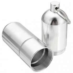 Case Bungkus Rokok Cylinder Stainless Steel Cigarette Case - LCLYL - Silver - 4