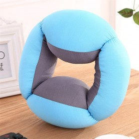 Bantal Leher Travel Ostrich Lazy Nap Pillow - V2V60 - Blue - 4