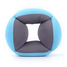 Bantal Leher Travel Ostrich Lazy Nap Pillow - V2V60 - Blue - 8