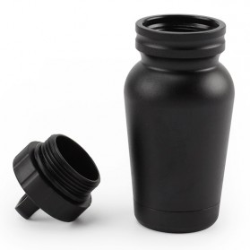 Botol Obat Pill Travel EDC Alumunium Waterproof - F10 - Black