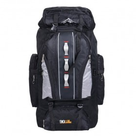 Tas Gunung Travel Outdoor Adventure Waterproof 100L - GC29 - Black