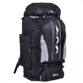 EVEVEME Tas Gunung Travel Outdoor Adventure Waterproof 100L - GC29 - Black - 2