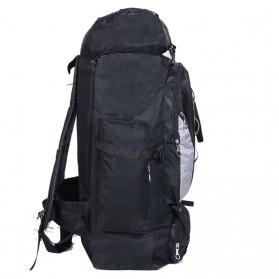 EVEVEME Tas Gunung Travel Outdoor Adventure Waterproof 100L - GC29 - Black - 3