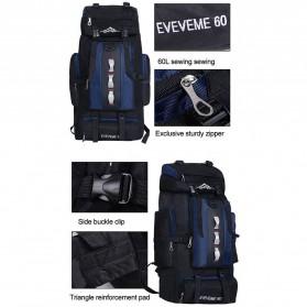 EVEVEME Tas Gunung Travel Outdoor Adventure Waterproof 100L - GC29 - Black - 5