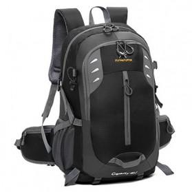 XUAN & YUFAN Tas Gunung Travel Outdoor Adventure Waterproof 40L - GC31 - Black - 2