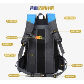 XUAN & YUFAN Tas Gunung Travel Outdoor Adventure Waterproof 40L - GC31 - Black - 4