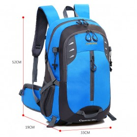 XUAN & YUFAN Tas Gunung Travel Outdoor Adventure Waterproof 40L - GC31 - Black - 8