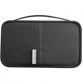 Pouch Dompet Travel Kartu Passpor Serbaguna Size Small - H35 - Black