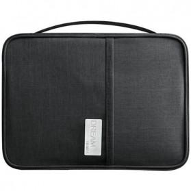 WILLIAMPOLO Pouch Dompet Travel Kartu Passpor Serbaguna Size Large - H35 - Black