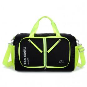 CLEVER BEES Tas Travel Lipat Portabel Duffel Bag Waterproof - L57 - Black - 2