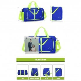 CLEVER BEES Tas Travel Lipat Portabel Duffel Bag Waterproof - L57 - Black - 3