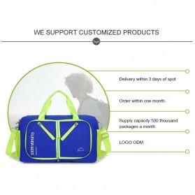 CLEVER BEES Tas Travel Lipat Portabel Duffel Bag Waterproof - L57 - Black - 4