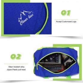 CLEVER BEES Tas Travel Lipat Portabel Duffel Bag Waterproof - L57 - Black - 5