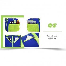 CLEVER BEES Tas Travel Lipat Portabel Duffel Bag Waterproof - L57 - Black - 7