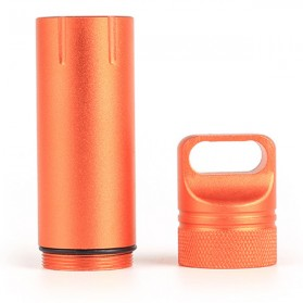 Tabung Penyimpanan Obat Alumunium Pill Box Waterproof Tank - BW2503470 - Black - 3