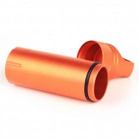 Tabung Penyimpanan Obat Alumunium Pill Box Waterproof Tank - BW2503470 - Black - 4