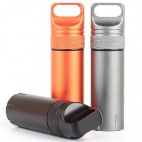 Tabung Penyimpanan Obat Alumunium Pill Box Waterproof Tank - BW2503470 - Black - 6
