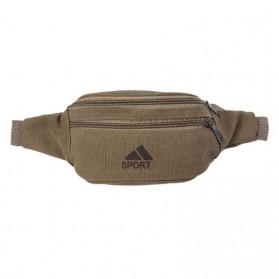 THINKTHENDO Sport Tas Pinggang Fanny Pack Waistbag - 4111 - Yellowish Brown