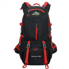 HWJIANFENG Tas Gunung Ransel Backpack 50L - 1524 - Black/Red