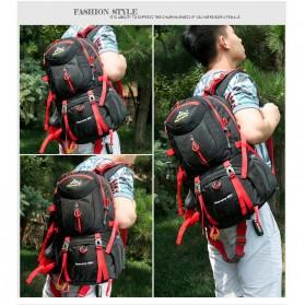 HWJIANFENG Tas Gunung Ransel Backpack 50L - 1524 - Black/Red - 3