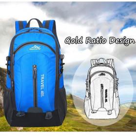 HUWAIJIANFENG Tas Gunung Travel Outdoor Adventure Waterproof 40L with USB Charger Port - ST31 - Black - 7