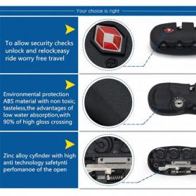 CoolCell Gembok TSA Retsleting Koper Kunci Kombinasi 3 Digit - S002 - Black - 4