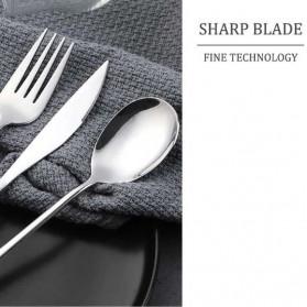 Knifezer Set Alat Makan Sendok Garpu Pisau Sumpit Sedotan Besi Japanese Style - EA02300 - Multi-Color - 8