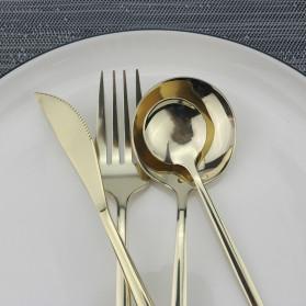 ROXY Cutlery Set Perlengkapan Makan Sendok Garpu Pisau Portuguese C22 - White/Gold - 5