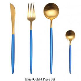 ROXY Cutlery Set Perlengkapan Makan Sendok Garpu Pisau Portuguese C22 - Blue