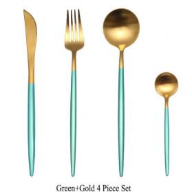 ROXY Cutlery Set Perlengkapan Makan Sendok Garpu Pisau Portuguese C22 - Green