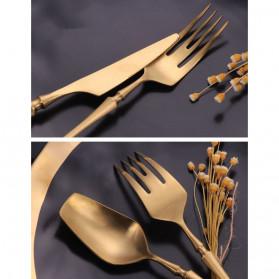 ROXY Cutlery Set Perlengkapan Makan Sendok Garpu Pisau Western - C23 - Dark Silver - 2