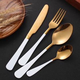 SPKLIFEY Pisau Makan Cutlery Perlengkapan Makan Western 1PCS - LF1 - Black Gold - 5