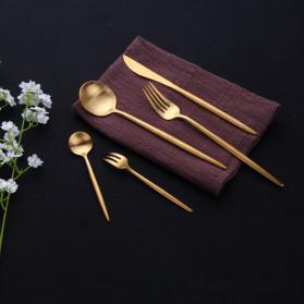 ROXY Cutlery Set Perlengkapan Makan Sendok Garpu Pisau Portuguese C29 - Black Gold - 4